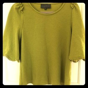 Anthropologie Chartreuse Blouse